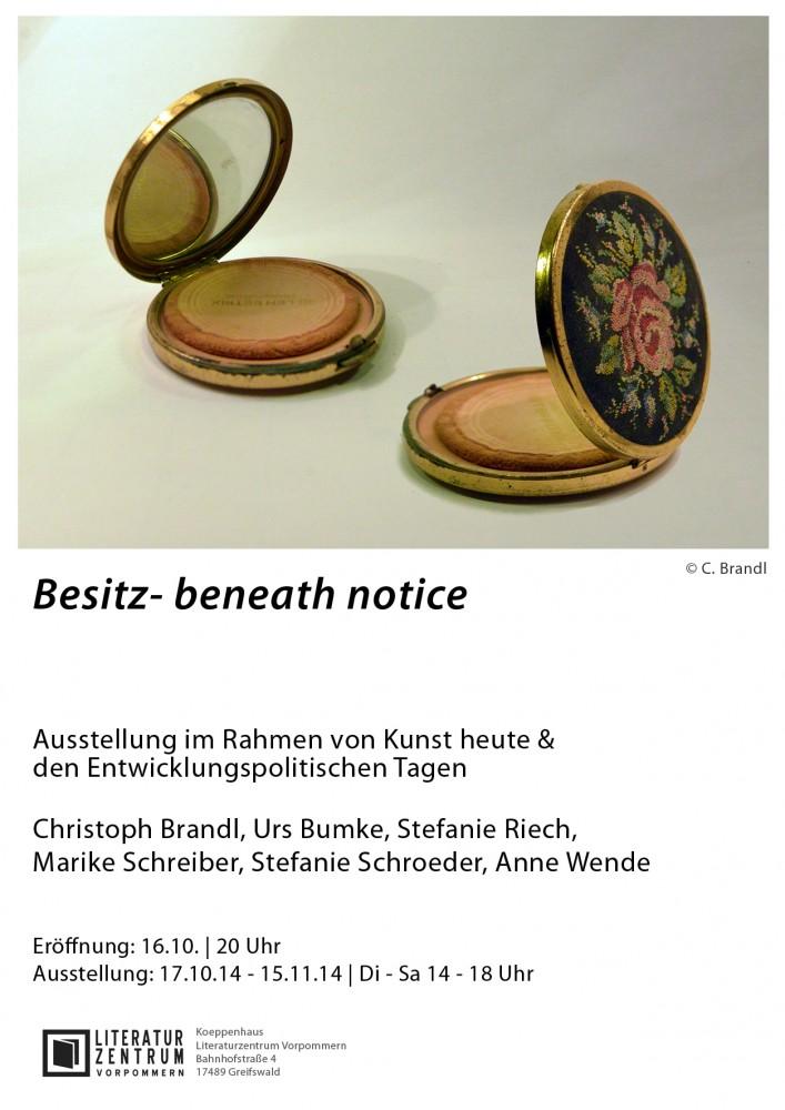 plakat-beneath notice klein